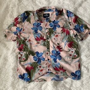 Hollister Short Sleeve Hawaiian Shirt